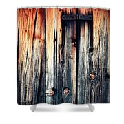 Detail Of An Old Wooden Door Shower Curtain