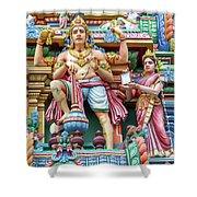 detail of Arulmigu Kapaleeswarar Temple, Chennai, Tamil Nadu Shower Curtain