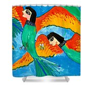 Detail Of Bird People Little Green Bee Eaters Of Upper Egypt 2 Shower Curtain