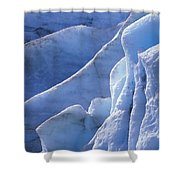 Detail Of Blue Ice On Exit Glaicer Shower Curtain