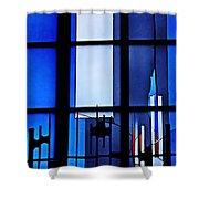 Detail Of Modern Johannes Schreiter Window Mainz 2 Shower Curtain