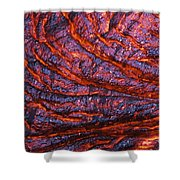Detail Of Molten Lava Shower Curtain