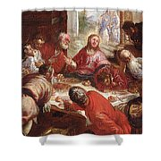 Detail Of The Last Supper Shower Curtain