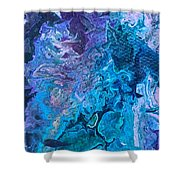 Detail Of Waves 6 Shower Curtain by Robbie Masso