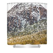 Detail On A Australian Snow Covered Mountain Shower Curtain