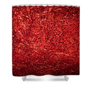Detail Polished Red Coral Shower Curtain