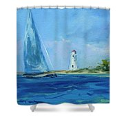 Sailing By The Light Shower Curtain
