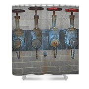 Detailed Four Pipes Shower Curtain