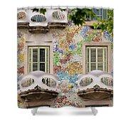 Details Of Casa Batllo In Barcelona 2, Spain Shower Curtain