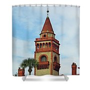 Details Of Flagler College Shower Curtain