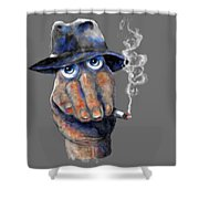 Detective Hand Shower Curtain