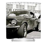 Detective Lieutenant Frank Bullitt, Steve Mcqueen, 1968 Ford Mustang Gt 390 Shower Curtain