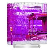Deterioration In Neon Shower Curtain
