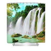Detian Waterfall Shower Curtain