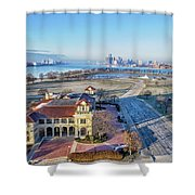 Detroit  A New Day A New Year Shower Curtain