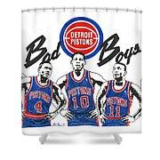 Detroit Bad Boys Pistons Shower Curtain