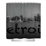Detroit City  Shower Curtain