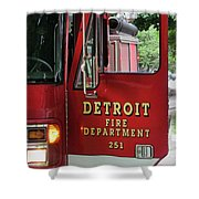 Detroit Fire Department Shower Curtain