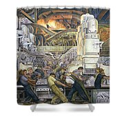 Detroit Industry   North Wall Shower Curtain