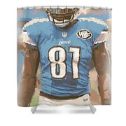 Detroit Lions Calvin Johnson 1 Shower Curtain