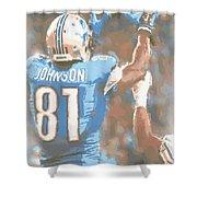 Detroit Lions Calvin Johnson 2 Shower Curtain
