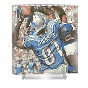 Detroit Lions Calvin Johnson 3 Shower Curtain