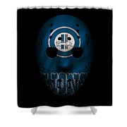 Detroit Lions War Mask Shower Curtain