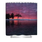 Detroit Point Sunset Off The Ice Shower Curtain