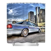 Detroit Police Shower Curtain