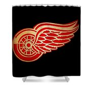 Detroit Red Wings - Scrolled Shower Curtain