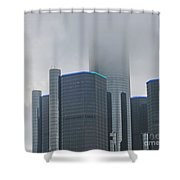 Detroit Rencen In Cloud Shower Curtain