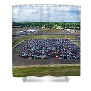 Detroit Rise/shine 3 Shower Curtain