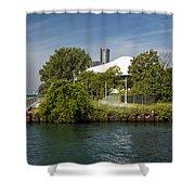 Detroit Riverfront 1 Shower Curtain