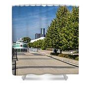 Detroit Riverfront 2 Shower Curtain