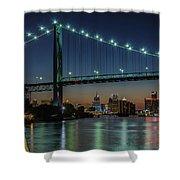 Detroit Riverside Sparkle Shower Curtain
