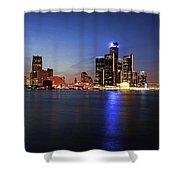 Detroit Skyline 1 Shower Curtain by Gordon Dean II