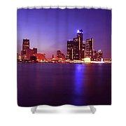 Detroit Skyline 2 Shower Curtain