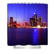 Detroit Skyline 3 Shower Curtain