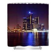 Detroit Skyline 4 Shower Curtain