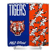 Detroit Tigers 1962 Yearbook Shower Curtain