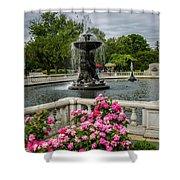 Detroit Zoo Fountain Shower Curtain