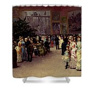 Detti Cesare Auguste Varnishing Day Shower Curtain