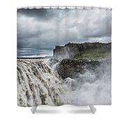 Dettifoss Waterfall Shower Curtain
