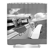 Deuce Coupe At The Drive-in Black And White Shower Curtain