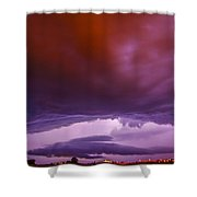 Developing Nebraska Night Shelf Cloud 003 Shower Curtain