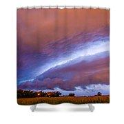 Developing Nebraska Night Shelf Cloud 006 Shower Curtain