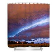 Developing Nebraska Night Shelf Cloud 007 Shower Curtain