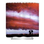 Developing Nebraska Night Shelf Cloud 009 Shower Curtain