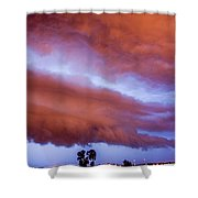 Developing Nebraska Night Shelf Cloud 011 Shower Curtain