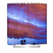 Developing Nebraska Night Shelf Cloud 012 Shower Curtain
